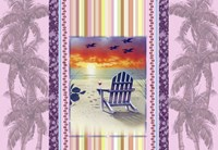 Sunset Chair Palm Fine Art Print