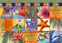 Tropical Quilt Mosaic Fine Art Print