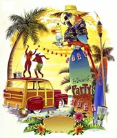 Woodie Beach Party Fine Art Print