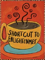 Shortcut To Enlightenment (Border) Fine Art Print