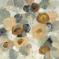 Neutral Floral Beige III Fine Art Print
