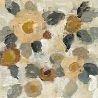 Neutral Floral Beige II Fine Art Print