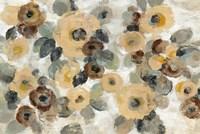 Neutral Floral Beige I Fine Art Print