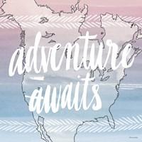 World Traveler Adventure Awaits Framed Print