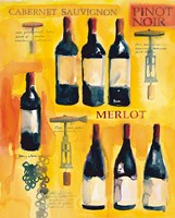 Red Wine Collage Fine Art Print