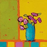 Turquoise Vase Bright Fine Art Print