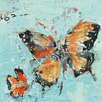 Monarch II Light Blue Fine Art Print