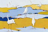 Marsh Egrets VI Fine Art Print