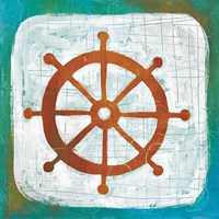 Ahoy IV Red Blue Fine Art Print