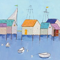 Boat House Row Fine Art Print