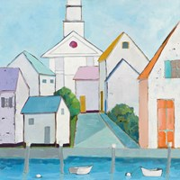 Harbor Town III no Sign Fine Art Print