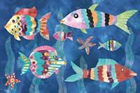 Boho Reef Fish III Fine Art Print