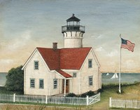 Lighthouse Keepers Home Fine Art Print