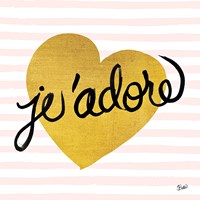 Jadore Black and Gold Fine Art Print