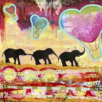 The Elephant Walk Fine Art Print
