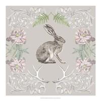Hare & Antlers II Framed Print