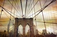 Brooklyn Bridge Sunset Fine Art Print