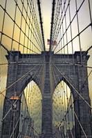 Brooklyn Bridge Twilight Fine Art Print
