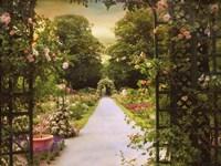 Rose Garden Gate Fine Art Print