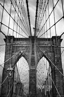 Brooklyn Bridge Mood Framed Print