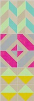 Elementary Tile Panel II Framed Print