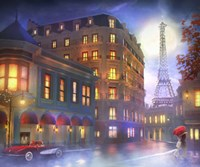 Mightnight In Paris Fine Art Print