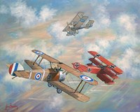 The Red Baron Bugs Out Fine Art Print