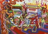 Trucks Fine Art Print