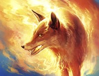 Fire Fox Fine Art Print