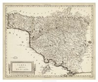 Antique Map of Tuscany Fine Art Print