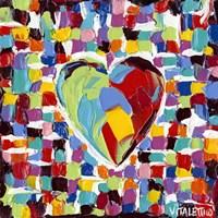 Mosaic Heart I Fine Art Print