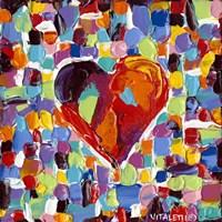 Mosaic Heart III Framed Print