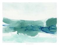 Teal Coast II Framed Print