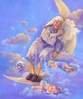 Man In The Moon Sleeping Fine Art Print