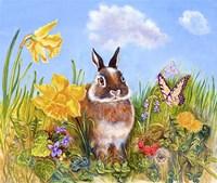 Bunny In Meadow Fine Art Print