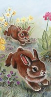 Running Bunnies Fine Art Print