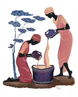 Two Women Pouring Fine Art Print