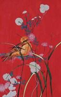 Bird On Red Fine Art Print