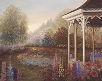 Gazebo With Foxgloves Fine Art Print