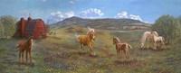 Horses And Barn Fine Art Print