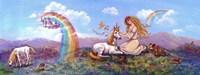 Princess And Unicorn Border Fine Art Print
