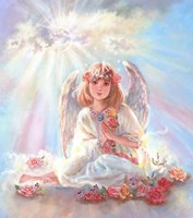 Girl Angel On Cloud Fine Art Print
