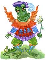 Friendly Dragon Fine Art Print