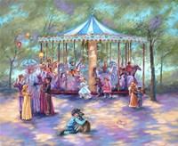 Blue Carousel Fine Art Print
