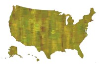 U.S.A. Map 8 Fine Art Print