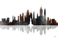 New York New York Skyline BW 1 Fine Art Print