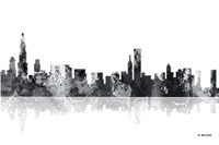 Chicago Illinois Skyline BG 1 Fine Art Print
