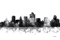 Salt Lake City Utah Skyline BG 1 Fine Art Print