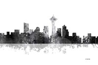 Seattle Washington Skyline BG 1 Fine Art Print