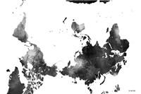 Upside Down Map Of The World BG 1 Fine Art Print